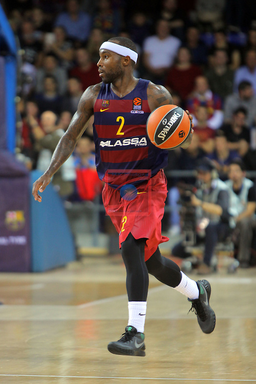 Turkish Airlines Euroleague 2016/2017.<br /> Regular Season - Round 8.<br /> FC Barcelona Lassa vs R. Madrid: 63-102.<br /> Tyrese Rice.