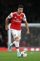 Arsenal's Gabriel Martinelli in action during Arsenal vs Standard Liege, UEFA Europa League Football at the Emirates Stadium on 3rd October 2019
