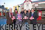 Kenmare Chamber of Commerce have launched an event guide for 2013 which promotes the festivals and fun events to mark the year of The Gathering. .Front L-R Terry Doherty (gathering co-ordinator), Lynne Brennan (event co-ordinator of Kenmare Chamaber of Commerce and chairperson of Kenmare Lace Festival),.Noel Crowley (Fas co-ordinator) and Senator Mark Daly (Easter Gathering and Gangs of New York festivals). .Back L-R Raymond Ross (Kerry wildlife gathering), John O'Sullivan (chairperson of Kenmare Chamber) and Kit Dunlop (Feile Neidin).