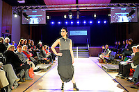 Melanie Child, New Zealand Eco Fashion Exposed Maintain &amp; Sustain at Notre Dame Performing Arts Centre, Lower Hutt, New Zealand on Friday 25 July 2014. <br /> Photo by Masanori Udagawa. <br /> www.photowellington.photoshelter.com.