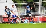 Uppsala 2014-06-26 Fotboll Superettan IK Sirius - IFK V&auml;rnamo :  <br /> Sirius Stefan Silva g&ouml;r 2-0 bakom V&auml;rnamos Bj&ouml;rn &Aring;kesson <br /> (Foto: Kenta J&ouml;nsson) Nyckelord:  Superettan Sirius IKS Studenternas IFK V&auml;rnamo