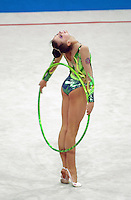 Oct 01, 2000; SYDNEY, AUSTRALIA:<br /> Yulia Raskina (BLR) performs hoop during rhythmic gymnastics final at 2000 Summer Olympics. Yulia took silver medal.
