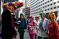 Easter Bonnet Parade along Fifth Avenue in New York April 8, 2012.  Photo by Joana Toro / VIEWpress.