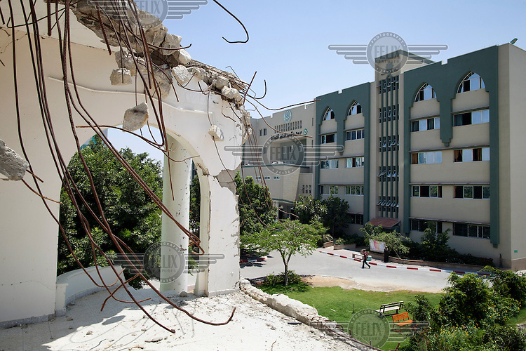 Part the Islamic University that was heavily damaged during Operation Cast Lead, an Israeli action that destroyed much of the university's science and engineering facilities.