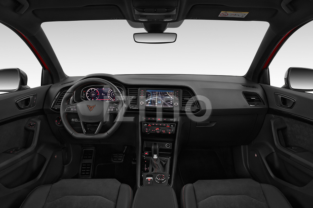 Stock photo of straight dashboard view of 2019 Cupra Ateca Xcellence 5 Door SUV Dashboard