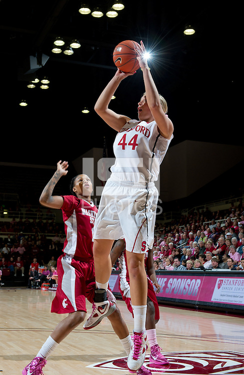 STANFORD, CA - February  10, 2011: Stanford Cardinal's Josyln Tinkle  during the Stanford vs Washington State game at Maples Pavilion in Stanford, California.