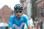 Nairo Quintana (COL) Movistar Team arrives at sign on before Stage 3 of the 2019 Tour de France running 215km from Binche, Belgium to Epernay, France. 8th July 2019.<br /> Picture: Colin Flockton | Cyclefile<br /> All photos usage must carry mandatory copyright credit (© Cyclefile | Colin Flockton)
