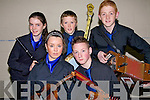 The Ballydonoghue team taking part in the finals of the North Kerry  Sco?r at St. Senans Club Mountcoal, Listowel on saturday night were  Aisling McCarthy. padraig Enright, Moira O'Connell, Jason O'Foley and Kevin O, Neill.    Copyright Kerry's Eye 2008