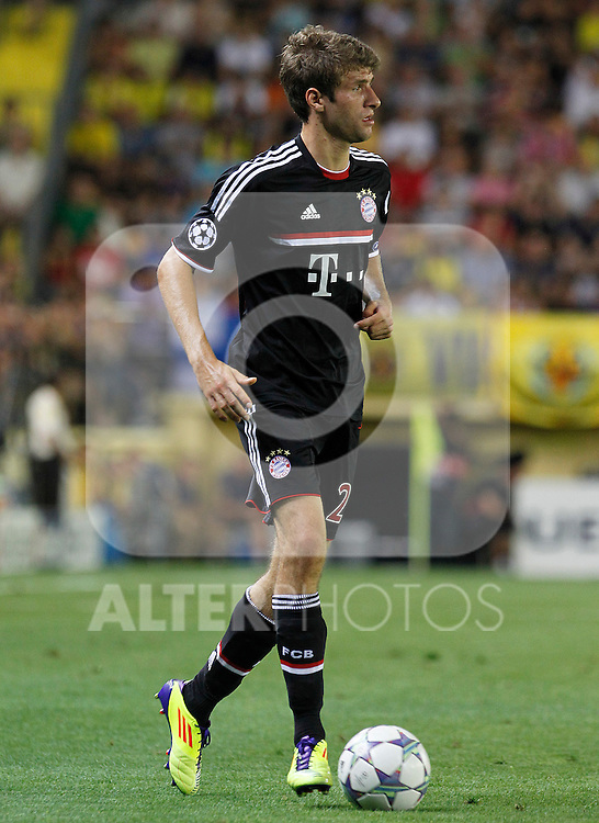 FC Bayern Munchen's Thomas Muller during UEFA Champions League match.September 14,2011.(ALTERPHOTOS/Acero)