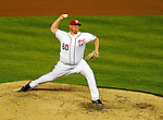 21 June 2011: Washington Nationals pitcher Todd Coffey in action against the Seattle Mariners at Nationals Park in Washington, District of Columbia. The Nationals rallied from a 5-1 deficit, scoring 5 runs in the bottom of the 9th, to defeat the Mariners 6-5 in inter-league play. Mandatory Credit: Ed Wolfstein Photo