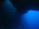 Blue Hole, Palau -- View from inside one of the caverns.