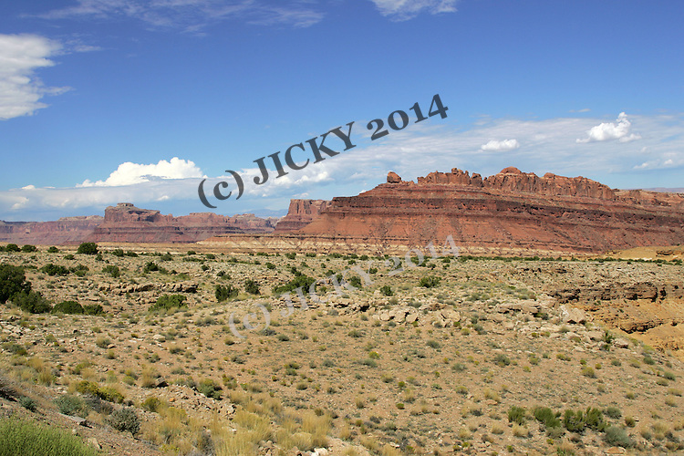 Black Dragon - San Rafael Swell seen from the Spotted Wolf Canyon rest stop on I-70.