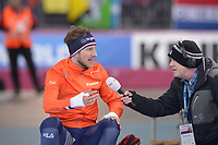 SPEEDSKATING: HAMAR: Vikingskipet, 29-02-2020, ISU World Speed Skating Championships, Allround, 5000m Men, Jan Blokhuijsen (NED), Bert Maalderink (NOS), ©photo Martin de Jong