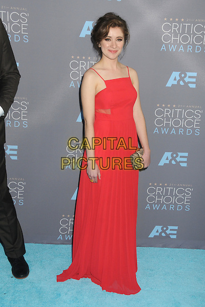 17 January 2016 - Santa Monica, California - Noel Wells. 21st Annual Critics' Choice Awards - Arrivals held at Barker Hangar. <br /> CAP/ADM/BP<br /> &copy;BP/ADM/Capital Pictures