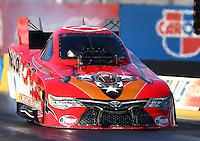 Feb 3, 2016; Chandler, AZ, USA; NHRA funny car driver Chad Head during pre season testing at Wild Horse Pass Motorsports Park. Mandatory Credit: Mark J. Rebilas-USA TODAY Sports