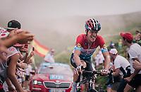 Bob Jungels (LUX/Quick-Step Floors) up the last climb of the 2018 Tour: the Col d'Aubisque (HC/1709m/16.6km@4.9%)<br /> <br /> Stage 19: Lourdes &gt; Laruns (200km)<br /> <br /> 105th Tour de France 2018<br /> &copy;kramon