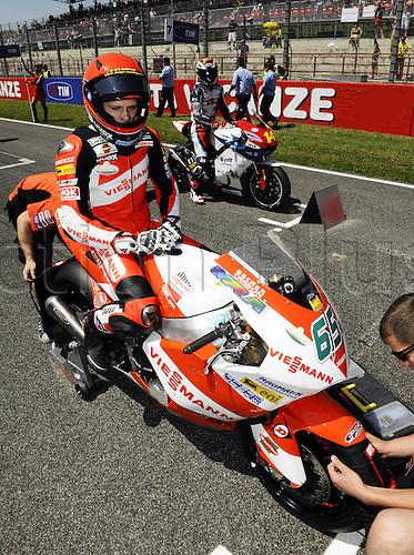 06 06 2010 Stefan Bradl ger Suter. Moto2 class, 600cc spec Honda eninges in prototype chassis. Gran Premio d'Italia TIM, Mugello circuit, Italy.
