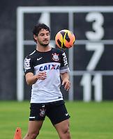 SÃO PAULO,SP, 25 Junho 2013 -  Alexandre Pato durante treino do Corinthians no CT Joaquim Grava na zona leste de Sao Paulo, onde o time se prepara  para o campeonato brasileiro. FOTO ALAN MORICI - BRAZIL FOTO PRESS