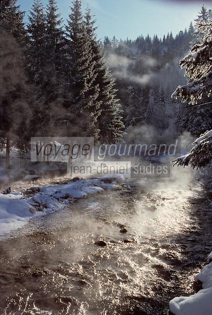 Europe/France/Franche-Comté/25/Doubs/Mouthe: le Doubs à sa source