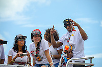 Mario Chalmers at Miami Heat NBA 2013 Championship parade, Biscayne Boulevard, American Airlines Arena, Miami, FL, June 24, 2013