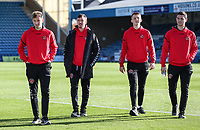 Fleetwood Town's players before the match<br /> <br /> Photographer Andrew Kearns/CameraSport<br /> <br /> The EFL Sky Bet League One - Gillingham v Fleetwood Town - Saturday 3rd November 2018 - Priestfield Stadium - Gillingham<br /> <br /> World Copyright © 2018 CameraSport. All rights reserved. 43 Linden Ave. Countesthorpe. Leicester. England. LE8 5PG - Tel: +44 (0) 116 277 4147 - admin@camerasport.com - www.camerasport.com