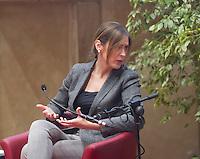 INCONTRO CON IL MINISTRO DELLE RIFORME MARIA ELENA BOSCHI NELLA FOTO IL MINISTRO DELLE RIFORME MARIA ELENA BOSCHI POLITICA CASTENEDOLO 13/11/2015 FOTO MATTEO BIATTA<br /> <br /> MEETING WITH MINISTER OF REFORMS MARIA ELENA BOSCHI IN THE PICTURE THE MINISTER OF REFORMS MARIA ELENA BOSCHI POLITICS CASTENEDOLO 13/11/2015 PHOTO BY MATTEO BIATTA