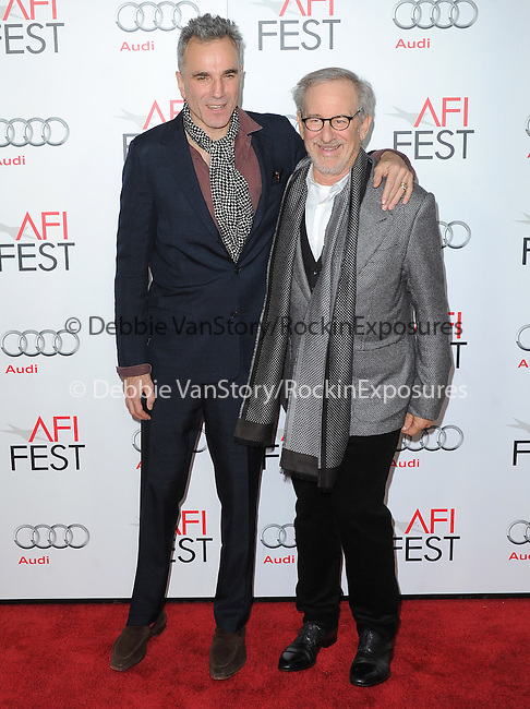 Daniel Day-Lewis and Steven Spielberg at AFI FEST 2012 Closing Night Gala -Steven Spielberg's LINCOLN held at The Grauman's Chinese Theatre in Hollywood, California on November 08,2012                                                                               © 2012 Hollywood Press Agency