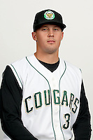 Matt Mitchell (31) of the Kane County Cougars at Elfstrom Stadium in Geneva, Illinois;  April 5, 2011. Photo By Chris Proctor/Four Seam Images.