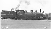 Side view of K-27 #451 at Alamosa.<br /> D&amp;RGW  Alamosa, CO  Taken by Rogers, Donald E. A.
