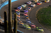 Apr 22, 2006; Phoenix, AZ, USA; The field of Nascar Nextel Cup prior to taking the green flag for the Subway Fresh 500 at Phoenix International Raceway. Mandatory Credit: Mark J. Rebilas-US PRESSWIRE Copyright © 2006 Mark J. Rebilas..