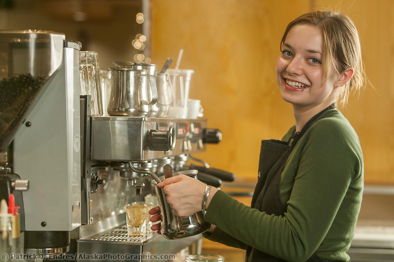 Barista at Alaska Coffee Roasting Compay