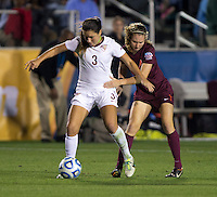 Nickolette Driesse, Katie Yensen. Florida State defeated Virginia Tech, 3-2,  at the NCAA Women's College Cup semifinals at WakeMed Soccer Park in Cary, NC.