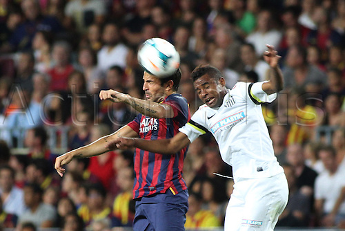 02.08.2013 Barcelona, Friendly football competition Joan Gamper Trophee. Fabregas  in action during the friendly match in the nou Camp