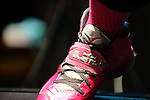 MIAMI BEACH, FL - OCTOBER 13: Gramps Morgan LeBron James pinks shoe in honor of his mom dying of breast cancer  performs as the opening act for India Arie performs at Fillmore Miami Beach on October 13, 2013 in Miami Beach, Florida. (Photo by Johnny Louis/jlnphotography.com)