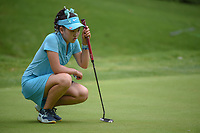 Luci Li (a)(USA) lines up her putt on 13 during round 2 of the U.S. Women's Open Championship, Shoal Creek Country Club, at Birmingham, Alabama, USA. 6/1/2018.<br /> Picture: Golffile | Ken Murray<br /> <br /> All photo usage must carry mandatory copyright credit (&copy; Golffile | Ken Murray)