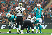 1st October 2017, Wembley Stadium, London, England; NFL International Series, Game Two; Miami Dolphins versus New Orleans Saints; Jay Cutler of the Miami Dolphins gives out instructions