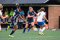 Allston, MA - Sunday July 17, 2016: Tasha Kai, Leah Galton, Julie King during a regular season National Women's Soccer League (NWSL) match between the Boston Breakers and Sky Blue FC at Jordan Field.