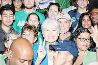 Green Party presidential nominee Jill Stein greets people after speaking at a campaign rally at Old South Church in Boston, Massachusetts on Sun., Oct. 30, 2016.