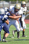 Torrance, CA 09/08/11 - unidentified Peninsula player in action during the North-Peninsula Junior Varsity Football game at North High School in Torrance.