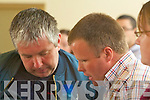 L-r: John Curtin and David Twomey Labour. at the Listowel Town Council Elections counting centre on Saturday.