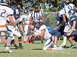 Palos Verdes, CA 09/24/16 - Issac Perez (Rolling Hills #1) in action during the non-conference CIF 8-Man Football  game between Rolling Hills Prep and Chadwick at Chadwick.