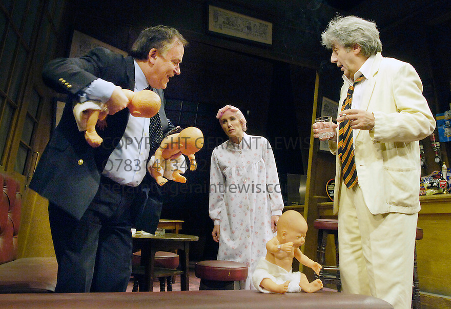 Jeffrey Bernard is Unwell with Tom Conti as Jeffrey,Royce Mills as Trainer,Nina Young as Trainer's Wife. Written by Keith Waterhouse and Willis Hall,directed by Ned Sherrin.Opens at the Garrick Theatre on 19/6/06. CREDIT Geraint Lewis