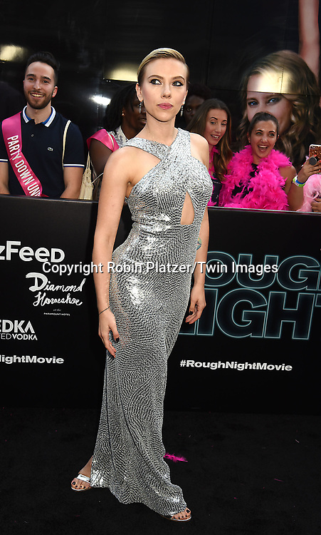 Scarlett Johansson attends the &quot;Rough Night&quot; World Premiere on June 12, 2017 at AMCLowes Lincoln Square 13 in New York, New York, USA.<br /> <br /> photo by Robin Platzer/Twin Images<br />  <br /> phone number 212-935-0770