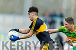Tony Brosnan  Dr Crokes in action against John Curran South Kerry in the Senior County Football Final in Austin Stack Park on Sunday