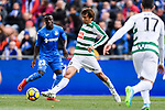 Takashi Inui of SD Eibar (C) in action during the La Liga 2017-18 match between Getafe CF and SD Eibar at Coliseum Alfonso Perez Stadium on 09 December 2017 in Getafe, Spain. Photo by Diego Souto / Power Sport Images