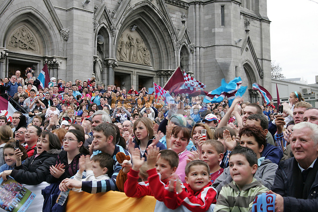 Drogheda Borough Council host civic reception for Drogheda United after winning the League on Friday Night against Bray.. Photo: Newsfile/Fran Caffrey.