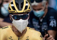 Would you recognize Primoz Roglic (SVK/Jumbo-Visma) here at the race start in Clermont-Ferrand?<br /> <br /> Stage 1: Clermont-Ferrand to Saint-Christo-en-Jarez (218km)<br /> 72st Critérium du Dauphiné 2020 (2.UWT)<br /> <br /> ©kramon