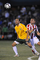 Tim Velten #4, Eddie Johnson...AC St Louis were defeated 1-2 by Austin Aztek in their inaugural home game in front of 5,695 fans at Anheuser-Busch Soccer Park, Fenton, Missouri.