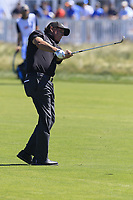 Phil Mickelson (USA) chips into the 16th green during Thursday's Round 1 of the 118th U.S. Open Championship 2018, held at Shinnecock Hills Club, Southampton, New Jersey, USA. 14th June 2018.<br /> Picture: Eoin Clarke | Golffile<br /> <br /> <br /> All photos usage must carry mandatory copyright credit (&copy; Golffile | Eoin Clarke)