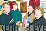 Special memories: The family of Lixnaw boy Johnny Nolan, who tragically died in July 2008, attended the launch of a special plaque to remember the 4-year-old  at the Lixnaw Hurling Clubhouse this week. Pictured his father Thomas, Michael (brother), Aisling (mother) and Norma (grandmother).